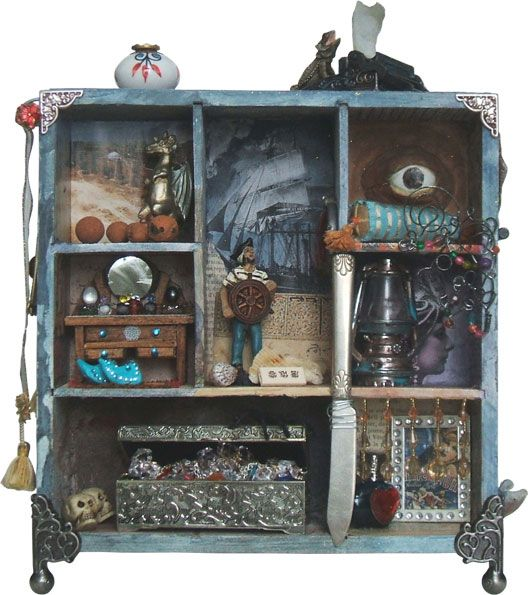 """The Joseph Cornell Box http://www.josephcornellbox.com Mille nuits, 2012 Denise Deschênes (Québec City, Canada) mixed media 10"""" x 12"""" x 6"""" (26 x 30 x 15 cm) I offer one of my creations as part of my series """"Cabinets de curiosités"""". You can see other creations on my website: denisedeschenes.com."""