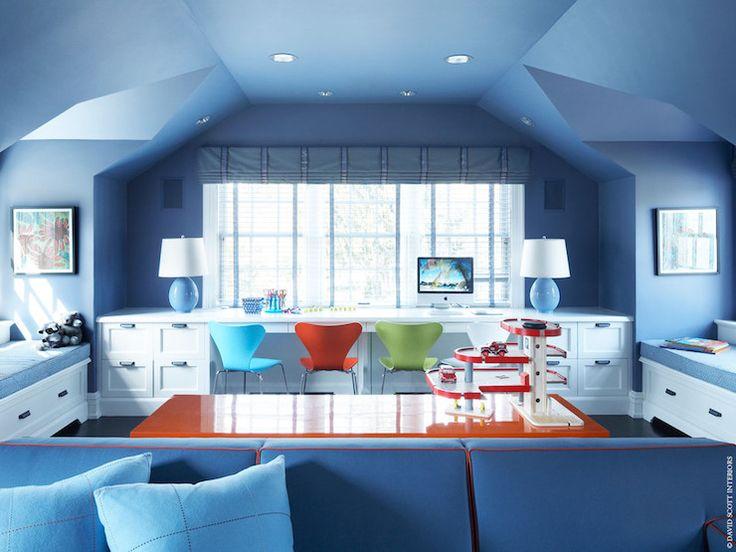 Alcove Desk, Contemporary, den/library/office, David Scott Interiors