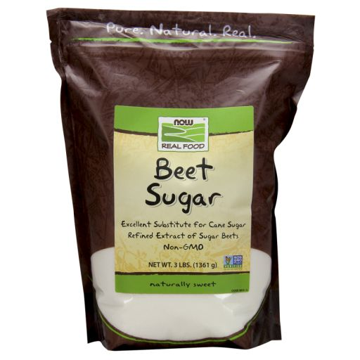 NOW Real Food® Beet Sugar is the refined extract of Non-GMO sugar beets and is 99.9% sucrose. Ingredients: Beet Sugar (Non-GMO). Vegetarian/Vegan Product. Product of Austria. Packaged in the USA.  Because you are what you eat, NOW Real Food® has been committed to providing delicious, healthy, natural and organic foods since 1968. Were independent, family owned, and proud of it.