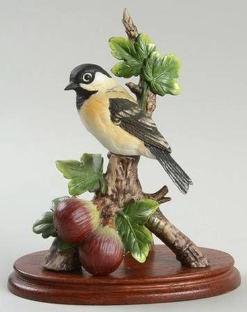 Top 25 ideas about adornos on pinterest hummingbirds pansies and birds - Chickadee figurine ...