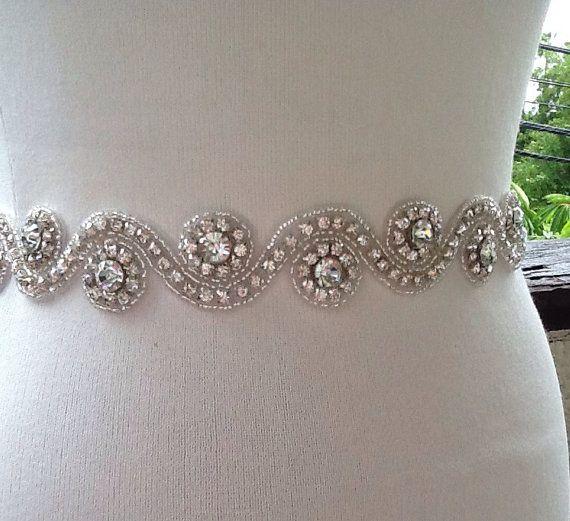 Nupcial marco marco de cristal de plata boda por SilverBridals