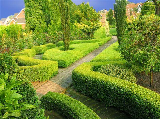 Floris: Een voorbeeld van hagen die de kleinere stroken openbaar groen kunnen afrasteren.