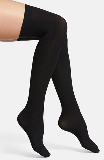 Up All Night Black Thigh-high Stockings
