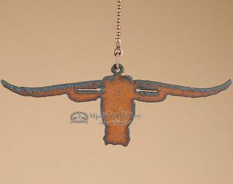 Western Metal Art Ceiling Fan Chain Pull -Longhorn (cp16)