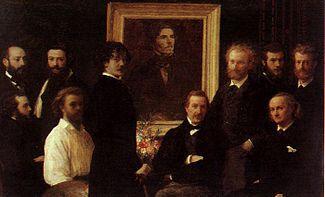 Homenaje a Delacroix (en francés, Hommage à Delacroix) es un cuadro del pintor francés Henri Fantin-Latour pintado en 1864, que se conserva en el Museo de Orsay de París. El cuadro es particularmente famoso por la presencia del poeta Charles Baudelaire (sentado a la extrema derecha), quien admiraba la obra de Delacroix.