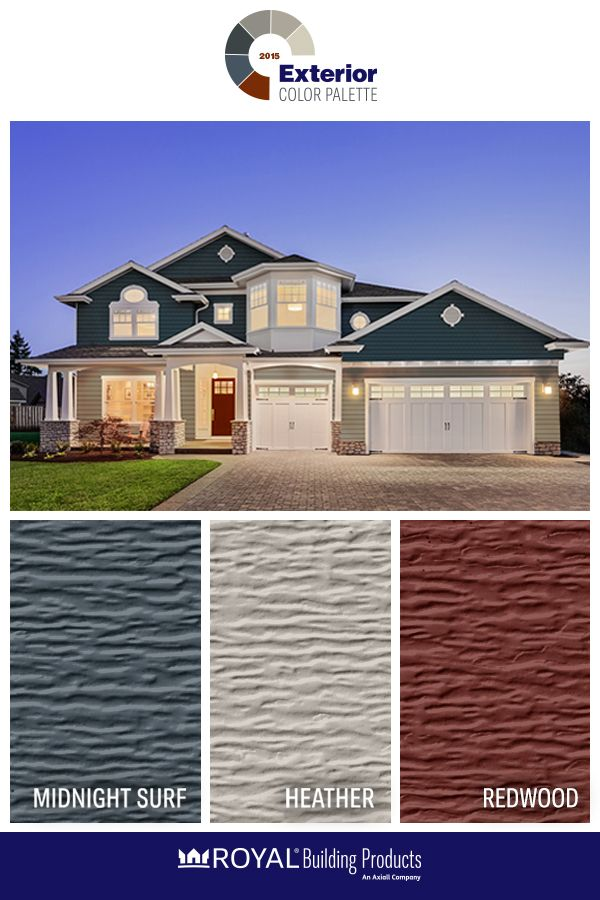 2015 Exterior Color Palette: Go Big Or Go Blue And Red. Pairing Midnight  Surf, Redwood And Heather Will Make Your Home Stand Out From The Rest.