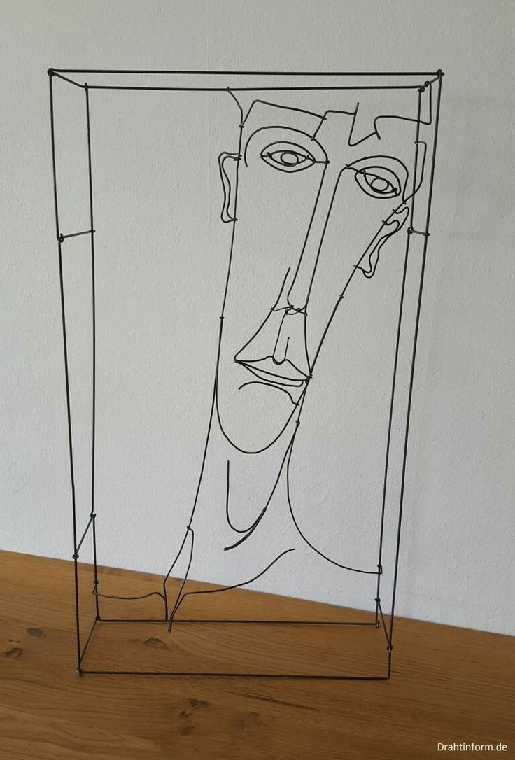 18 best MY WIRE PORTRAITS images on Pinterest | Painting gallery ...