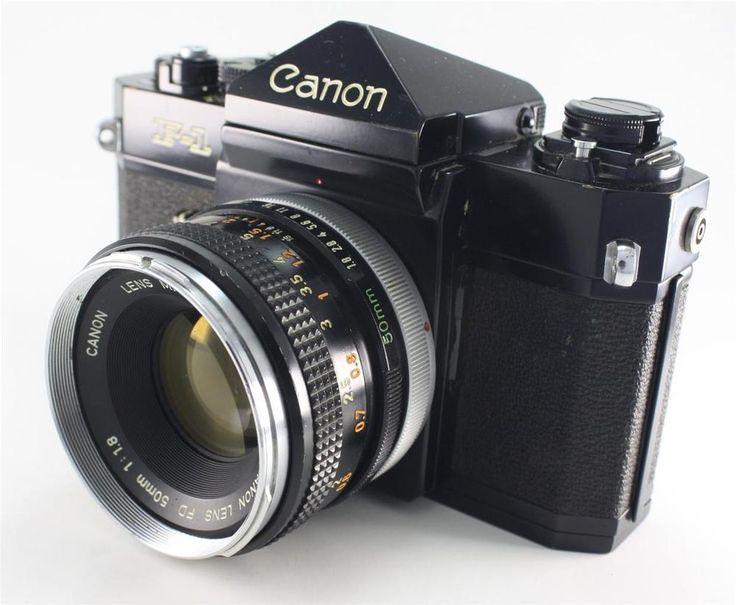 canon f 1 35mm slr film camera 50mm f1 8 lens vintage. Black Bedroom Furniture Sets. Home Design Ideas