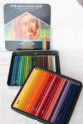 Great info on using colored pencils -  Prismacolour. On a personal note, using baby oil is a great element and cheaper to blend colors vs the odorless mineral spirit (OMS) as this last one can cause headaches if you are sensitive. Just place a cotton ball with some drops of baby oil (not drenched) on a small jar and wet stump to blend.