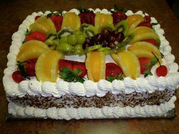 219 best Fruit Cake Decorations images on Pinterest Cake