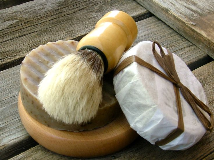 Shave Set with  Brush, Handmade Beer Soap, Mens Shave kit, Boar Brush, Rustic, Mens GIft. $20.00, via Etsy.