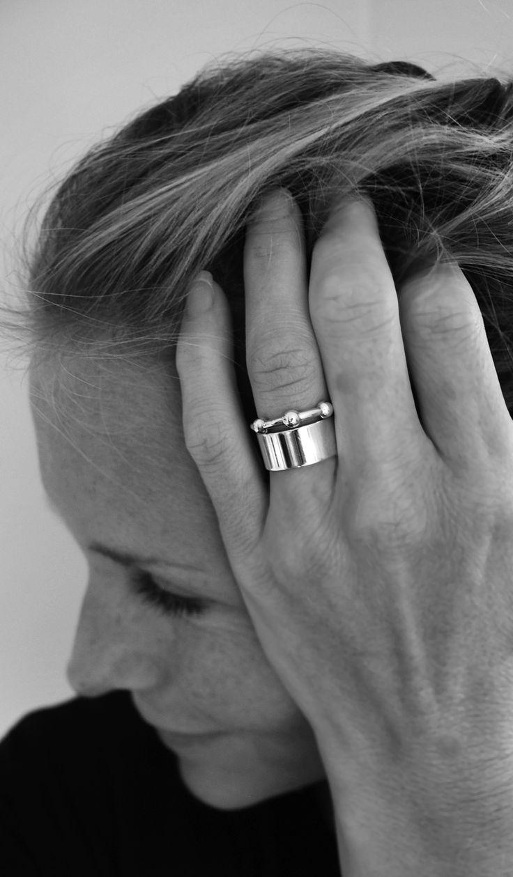 MILA COMBO ringar Plain ring + Jupiter ring. Köp snygga silverringar online! Fri frakt & öppet köp