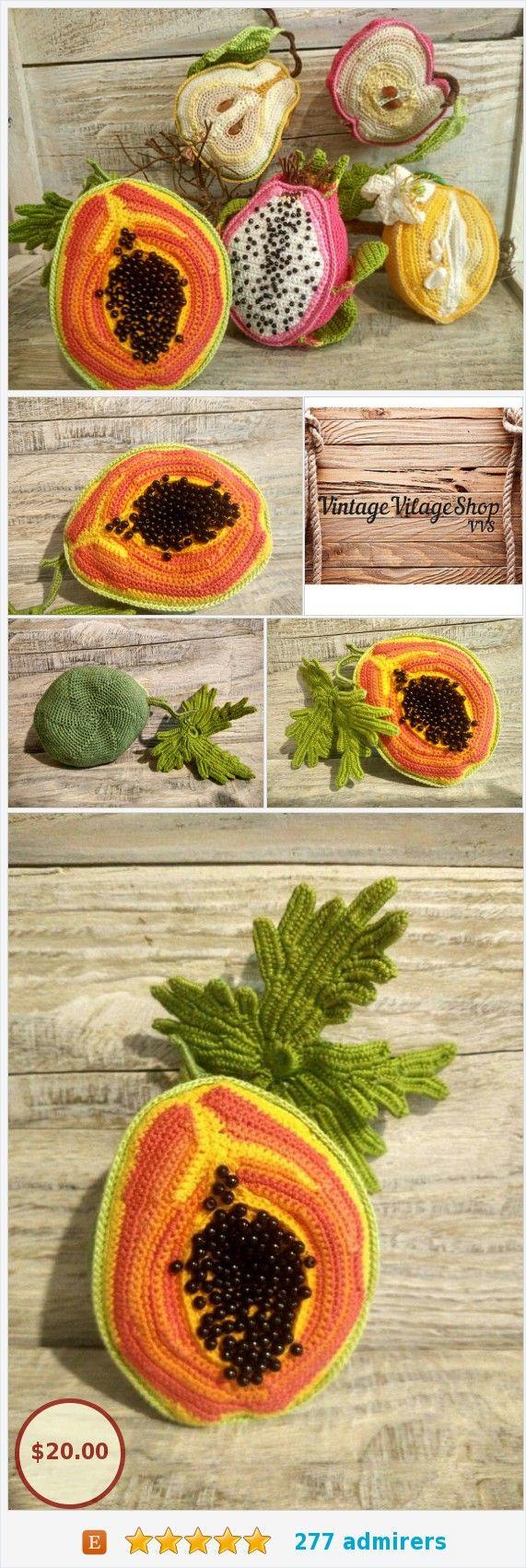 Papaya Orange Fruit Exotic Miniature Realistic Food Handmade Toy #etsy @aleksandray0000 https://www.etsy.com/VintageVilageShop/listing/576412738/papaya-orange-fruit-exotic-miniature?ref=listing-shop-header-3  (Pinned using https://PromotePictures.com)
