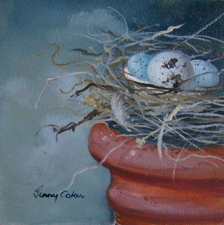 Nestling | Original Oil Painting | 100mm x 100mm | Jenny Coker