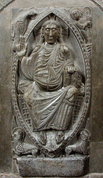 RELIEF SCULPTURE from the Ambulatory of Saint-Sernin, Toulouse, France. By Bernardus Gelduinus, c. 1096.