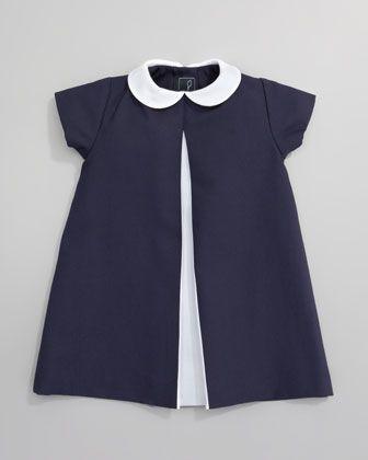Pique A-line Pleated Dress by Oscar de la Renta at Neiman Marcus.