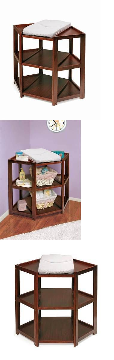 Boxes and Storage 117398: Badger Basket Diaper Corner Changing Table In Cherry Finish [Id 49805] -> BUY IT NOW ONLY: $232.08 on eBay!