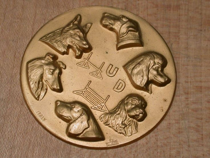 Vintage Dog Breeding Competition Awards Medallion Trophy Plaque ITALY | Collectibles, Animals, Dogs | eBay!