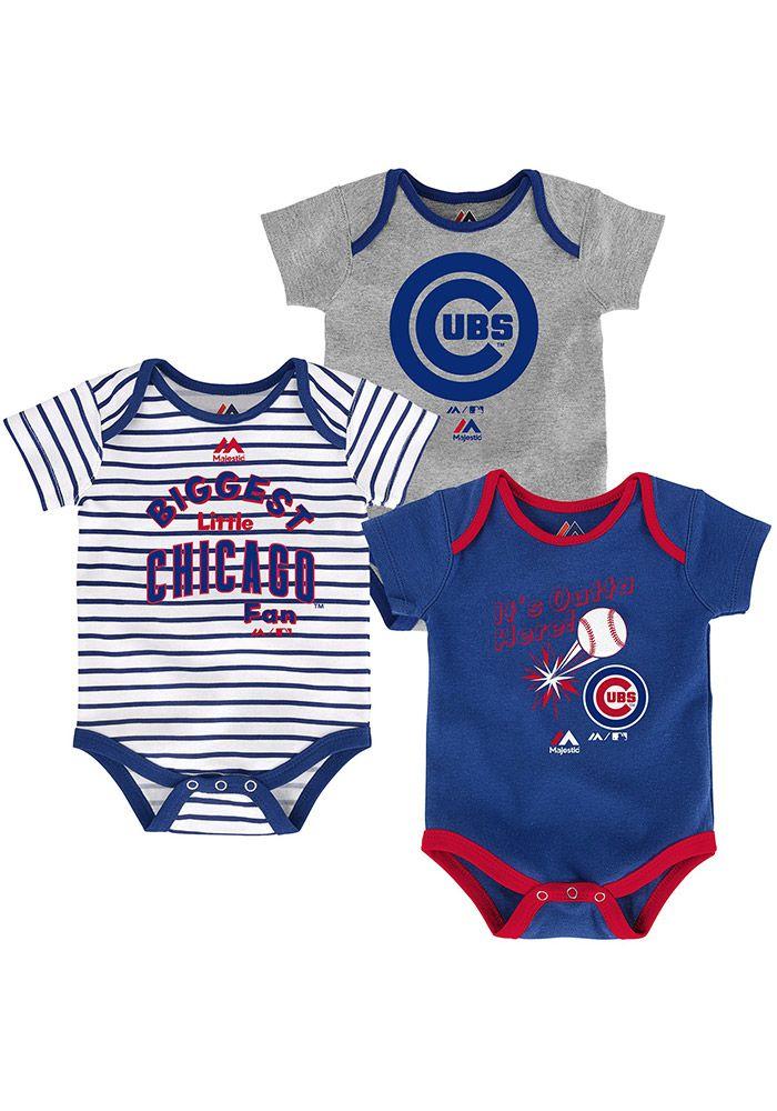 Chicago Cubs Baby Blue Homerun Creeper  d7f62c0746