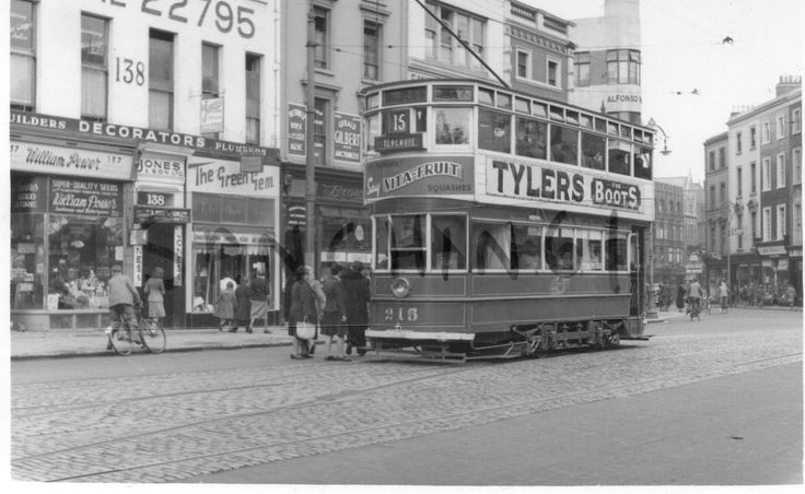 Tram at St Stephens Green 1946.