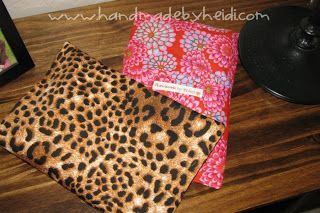 corn bag tutorial with washable cover -- via Handmade by Heidi
