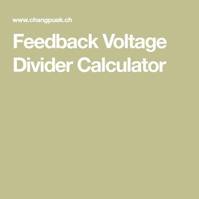 Feedback Voltage Divider Calculator