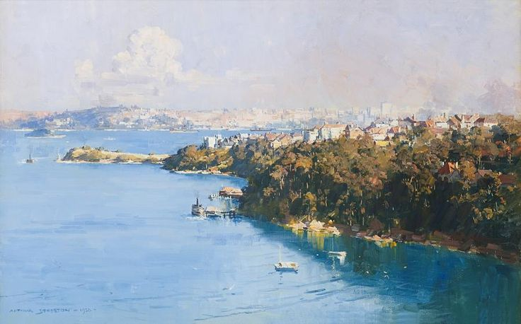 The Harbour from Mosman By Arthur STREETON, 1926