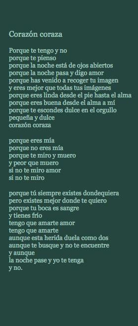 """Corazón Coraza que también sale en la película """"El lado oscuro del corazón"""""""