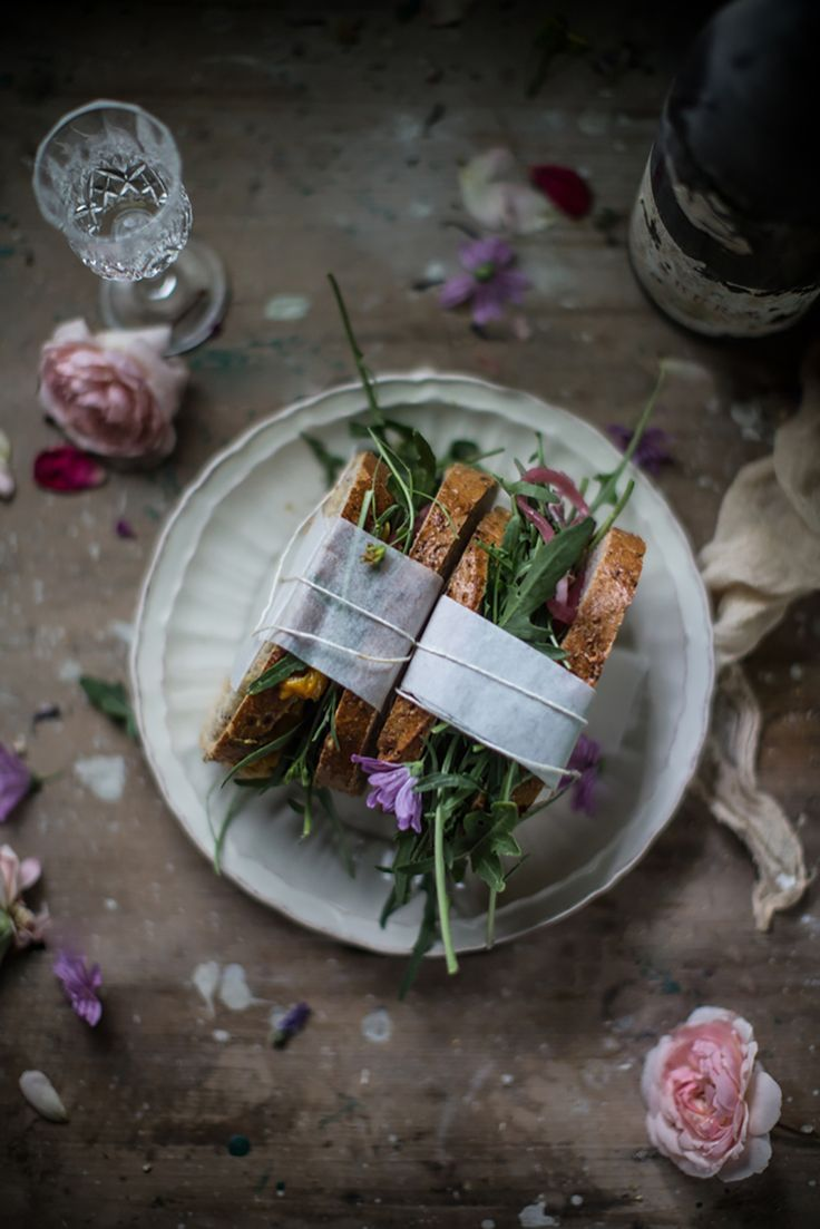 Panino with Roasted Peppers, Pesto & Arugula {Midsummer Potluck for Peace} | Hortus Natural Cooking