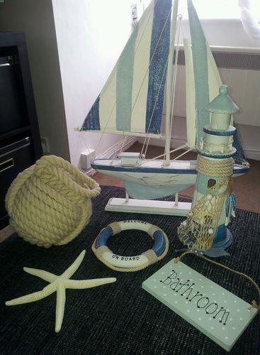 Nautical Bathroom accessories beach sailor seaside boats   eBay