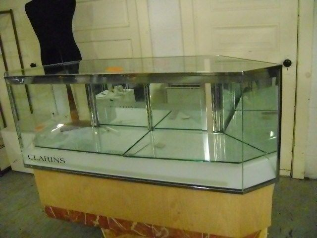 RETAIL GLASS  DISPLAY CABINET COUNTER GLASS SHOWCASE JEWELRY DISPLAY CASE #UnbrandedGeneric