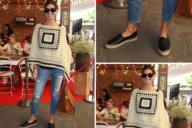 Ohlaleando: mirá lo que se puso Julieta Cardinali  Poncho crochet, jean rasgado y panchas de cuero para Juliana Awada. Un equipo tranqui y muy cómodo para el fin de semana. Foto: Gentileza Mass Grupo PR