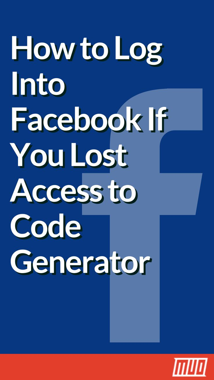 How to log into facebook if you lost access to code