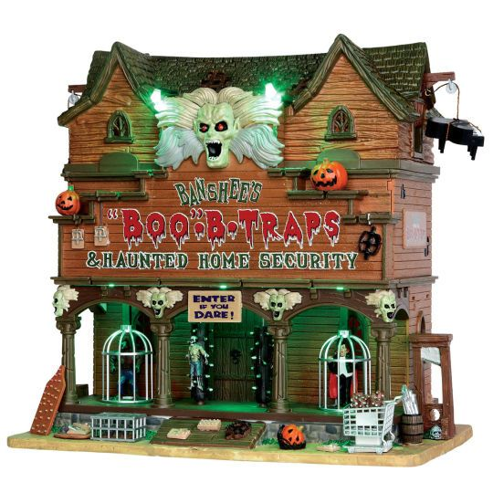 expand your halloween village with the totally ghoul boo b traps building