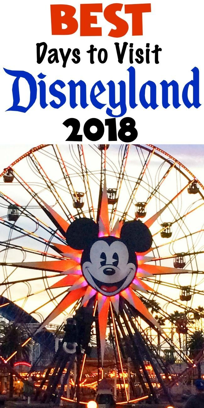 Disneyland crowd calendar for each month of 2018 #disneyland #DisneyTips #DisneylandResort #trip #vacationplanning