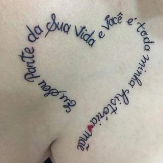 tatuagem frase em forma de coração - Pesquisa Google