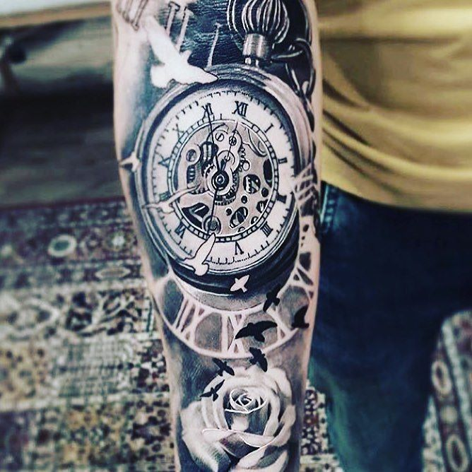 Follow and tag @inkedmagz to get featured @joeyboontattooartist this must have taken a long time! Sheesh so detailed and looks amazing! I bet he took is time with this piece! Take some time out of your day and give this guy a follow! Ok time for me to kill myself after all those time jokes  haha #imadumbass by dopeassink