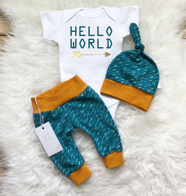 Hello World Baby Boy Outfit Take Home Outfit  Newborn Baby Boy Outfit  Newborn Boy Clothes Teal Outfit Baby Shower Gift  Photo Prop by LLPreciousCreations on Etsy https://www.etsy.com/listing/515477676/hello-world-baby-boy-outfit-take-home
