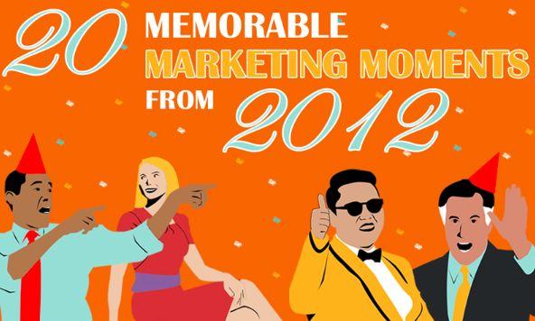 2012 memorable marketing moments