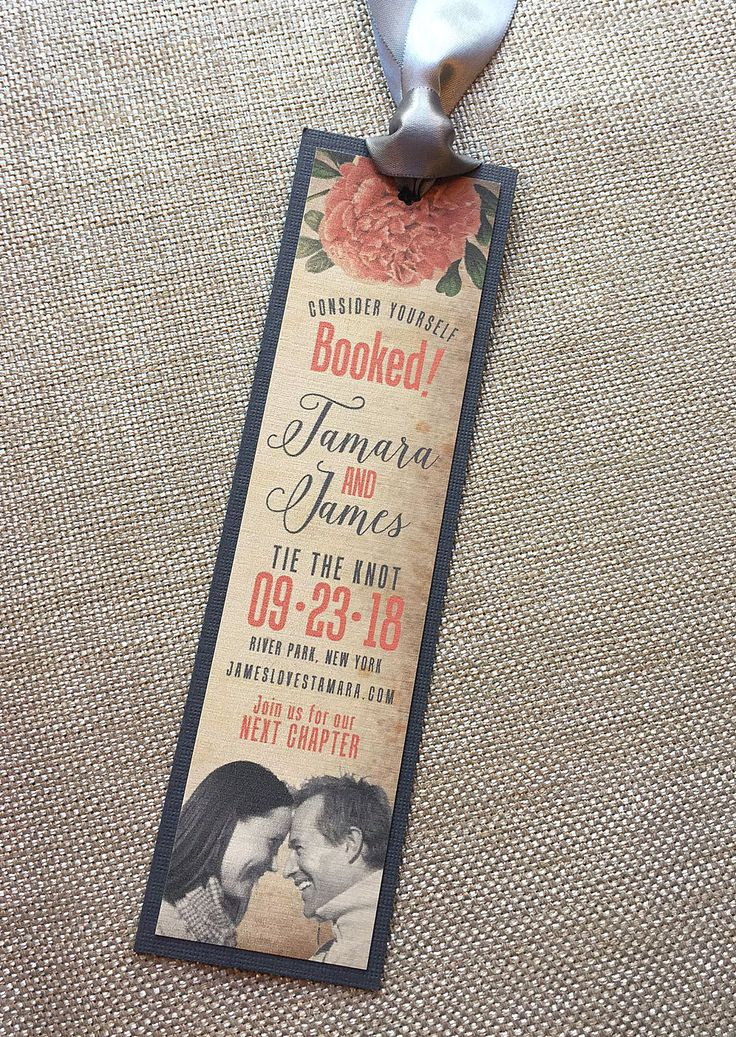 tie the knot wedding invitations etsy%0A Tie the Knot Photo  u     Vintage Hibiscus Wedding Save the Date Bookmark   SAMPLE by envymarketing on Etsy