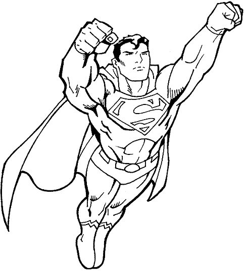 superman flying coloring page one of the greatest superheroes superman also known as clark kent - Superhero Coloring Pages