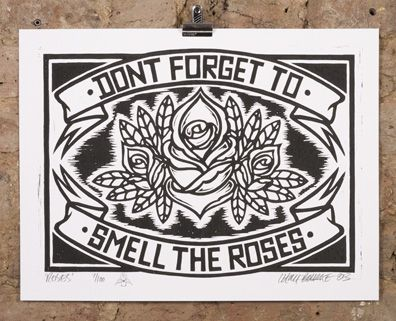 chris bourke • don't forget to smell the roses • £45.00