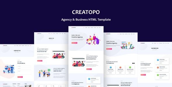 Creatopo Agency And Business Html5 Template Html5 Templates Templates Fun Website Design