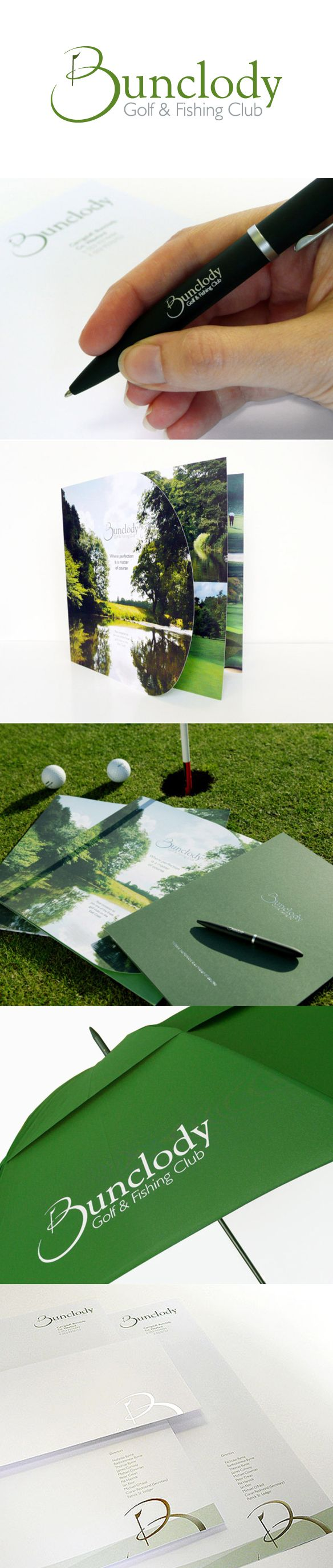Bunclody Golf & Fishing Club - Identity, Stationery, Brochure and Bespoke designs. www.akgraphics.ie