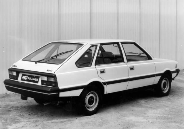 FSO Polonez 1500 SLE. I remember an Aunt bought one of these in white, if you put the steering on full lock, it would stay there, an option ommited from the options list. -)