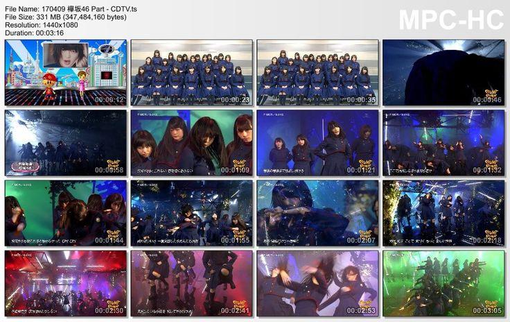 音楽番組170409 欅坂46 Part  CDTV