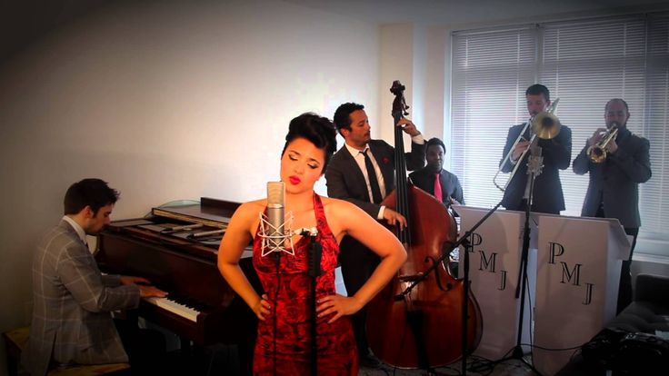 Womanizer -Postmodern Jukebox. I would just to point out that this guy in the back is using a wine glass as a trumpet mute.