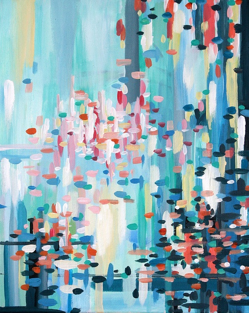 Deep Fork Series - Abstract Painting by Erin Cooper