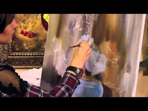 МАСТЕР КЛАСС ПО ЖИВОПИСИ - Как нарисовать Цветы Розы. Уроки живописи. Oil painting lesson - YouTube