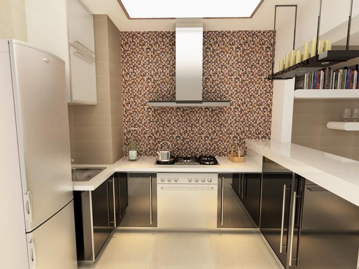 Texturas marfil o beige aportan limpieza y serenidad en for Losetas para cocina modernas